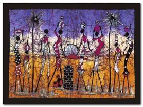 Gathering In Kalahari plakat obraz 80x60cm