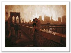 De Brooklyn Bridge plakat obraz 80x60cm