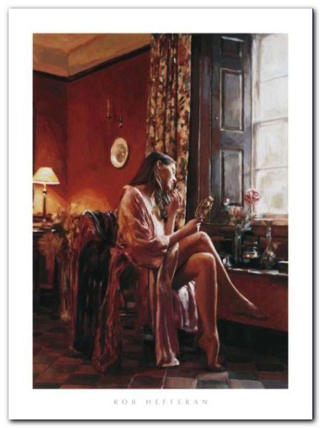 Femme Avec Miror plakat obraz 60x80cm (1)