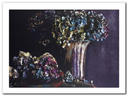Hydrangea plakat obraz 80x60cm (1)
