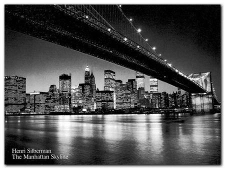 Manhattan Skyline plakat obraz 80x60cm (1)
