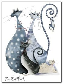The Cat Pack Catitudes plakat obraz 60x80cm