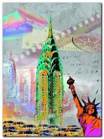 New York Vintage plakat obraz 60x80cm