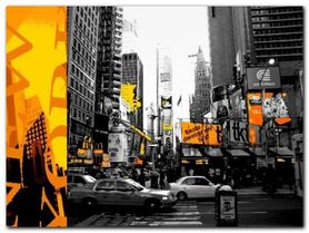 NYC Yellow plakat obraz 80x60cm