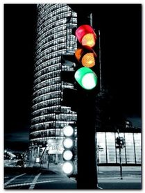 Traffic Lights plakat obraz 60x80cm
