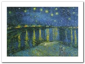 La Nuit Etoilee plakat obraz 80x60cm