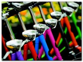 Colourful Bikes plakat obraz 80x60cm