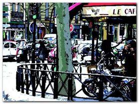 Parisian Cafe plakat obraz 80x60cm