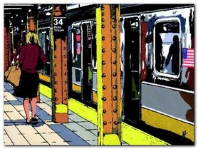Penn Station plakat obraz 80x60cm