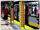 Penn Station plakat obraz 80x60cm (1)
