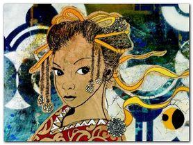 Lady Kyoto plakat obraz 80x60cm