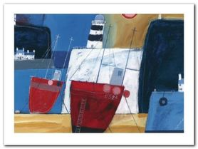 Two Red Boats plakat obraz 80x60cm