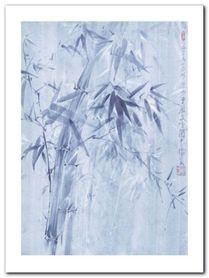 Bamboo Leaves I plakat obraz 60x80cm