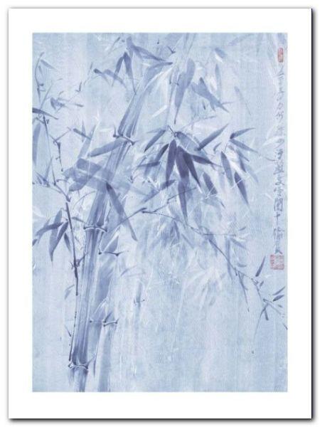 Bamboo Leaves I plakat obraz 60x80cm (1)