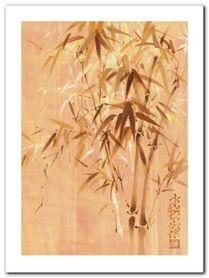 Bamboo Leaves II plakat obraz 60x80cm