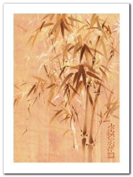 Bamboo Leaves II plakat obraz 60x80cm (1)