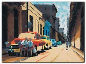 Cuban Street Scene plakat obraz 80x60cm