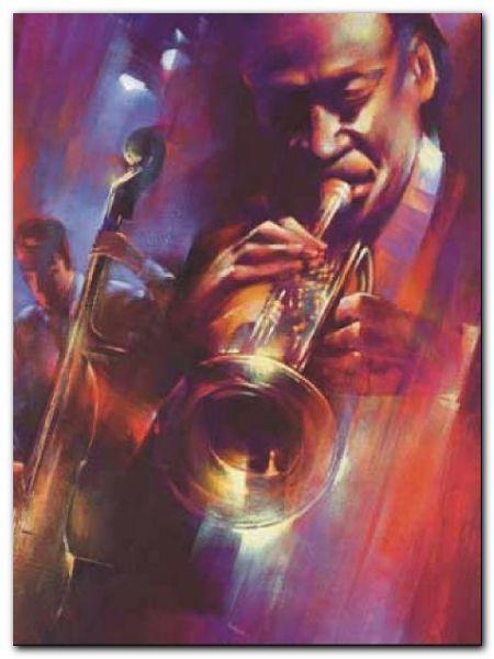 Hot Jazz plakat obraz 60x80cm (1)