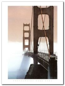 Golden Gate Bridge plakat obraz 60x80cm