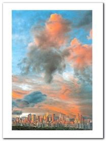 Manhattan Sunruse plakat obraz 60x80cm