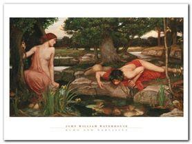 Echo And Narcissus plakat obraz 80x60cm