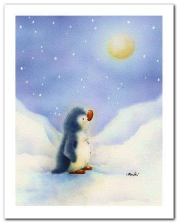 Little Penguin plakat obraz 24x30cm (1)