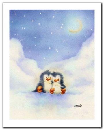 Little Penguins plakat obraz 24x30cm (1)