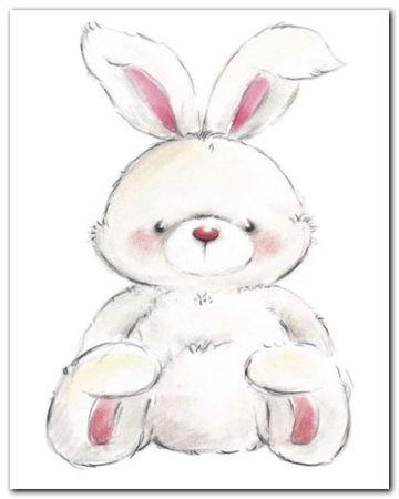 Rabbit plakat obraz 24x30cm (1)