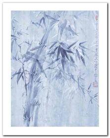 Bamboo Leaves I plakat obraz 24x30cm