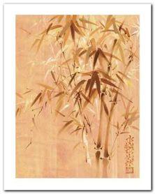 Bamboo Leaves II plakat obraz 24x30cm
