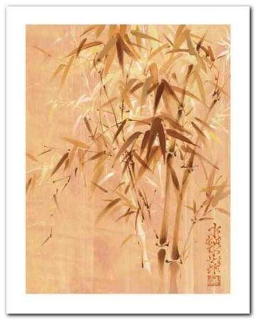 Bamboo Leaves II plakat obraz 24x30cm (1)