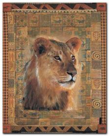 Lion plakat obraz 24x30cm