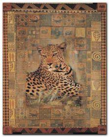 Leopard plakat obraz 24x30cm