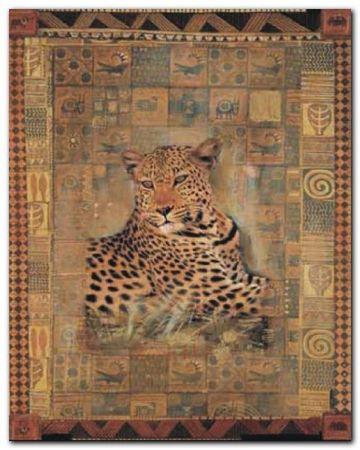 Leopard plakat obraz 24x30cm (1)