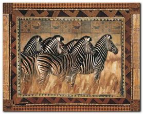 Zebras plakat obraz 30x24cm
