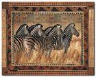 Zebras plakat obraz 30x24cm (1)