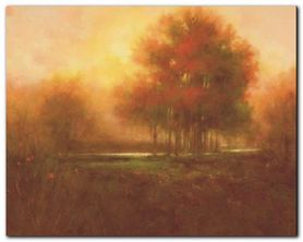 Golden Forest plakat obraz 30x24cm