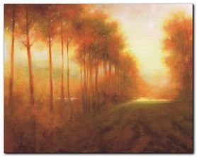 Line Of Trees At Dawn plakat obraz 30x24cm