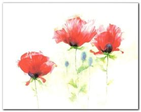 Red Poppies II plakat obraz 30x24cm
