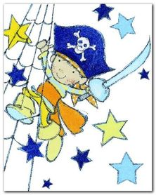 Little Pirate plakat obraz 24x30cm