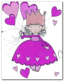 Little Princess plakat obraz 24x30cm