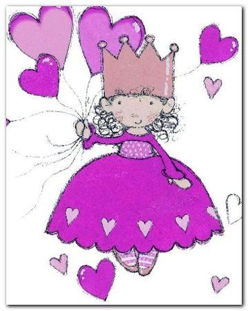 Little Princess plakat obraz 24x30cm (1)
