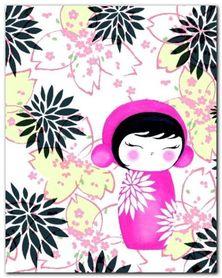 Baby Kiku plakat obraz 24x30cm