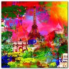 Paris plakat obraz 70x70cm (1)