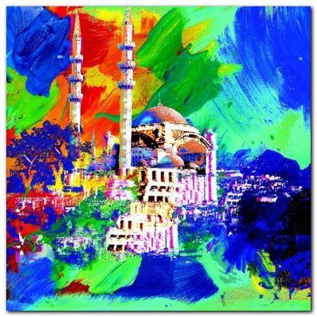 Istanbul plakat obraz 70x70cm (1)