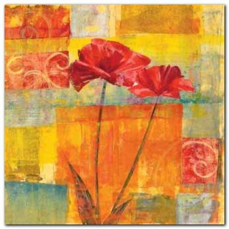 Red Tulips I plakat obraz 50x50cm (1)