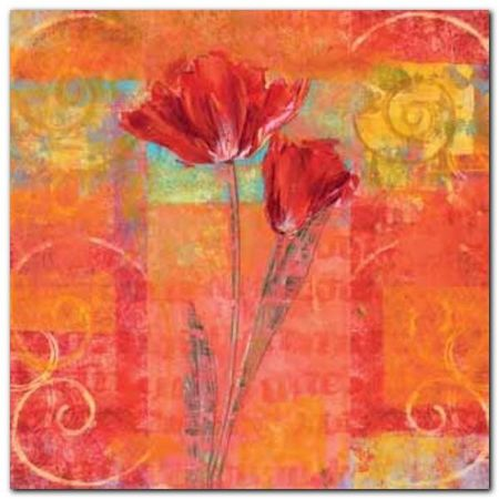 Red Tulips II plakat obraz 50x50cm (1)