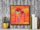 Red Tulips II plakat obraz 50x50cm (3)