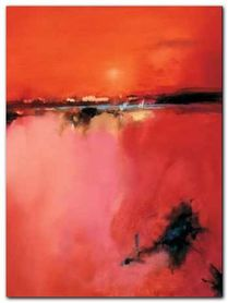 Orange Horizon plakat obraz 60x80cm