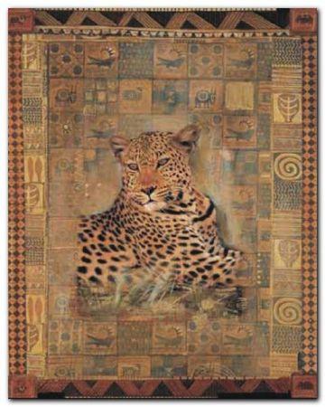 Leopard plakat obraz 40x50cm (1)